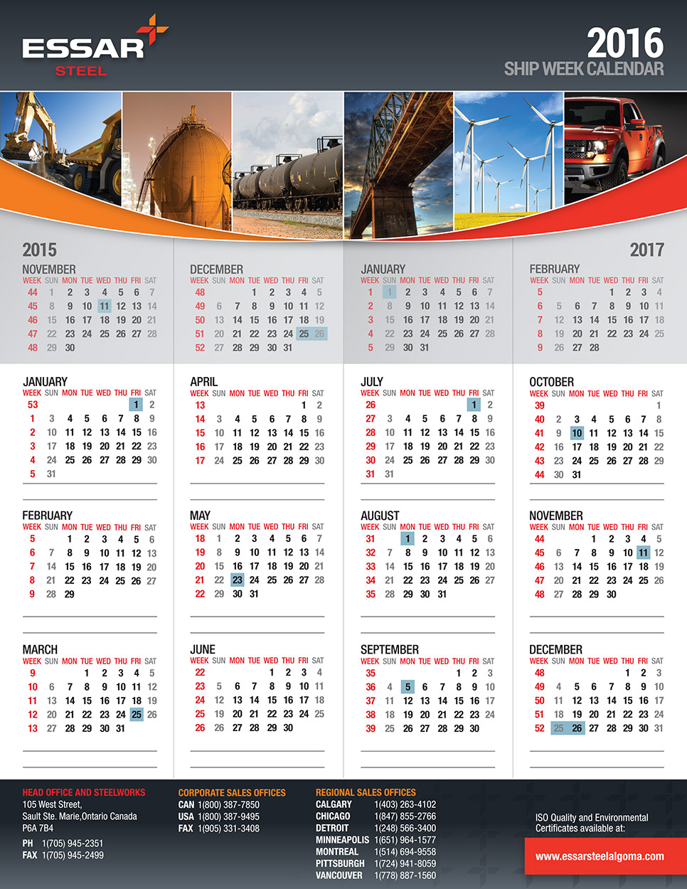 Corporate Wall Calendar Design Sample : Current graphic design projects toronto ontario
