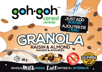 Goh-Goh Cereal Label Design