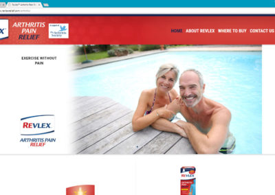 Revlex Arthritis Website Design & Programming